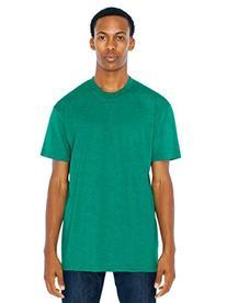 American Apparel Men 50/50 Crewneck T-Shirt Size L Heather