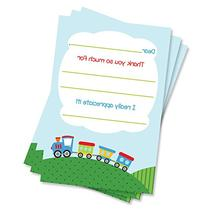 50 Fill-in Train Thank You Cards - Baby Shower - Birthday