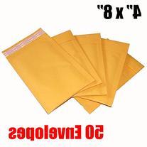 iMBAPrice #000 4 X 8 Kraft Bubble Mailers Padded Envelopes,