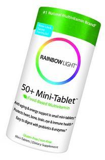 Rainbow Light  50+ Mini-Tablet Multivitamin, 180 Mini-