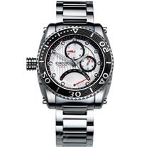 Jiusko 50LSB01 Men's Multifunction Quartz 24 Hr. Stainless