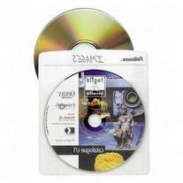 FELLOWES 50pk cd sleeves clear vinyl double sided- 100 cd