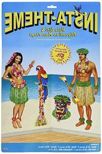 Beistle 52004 Printed Hula Girl and Polynesian Guy Props, 21