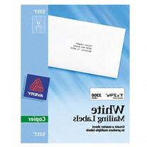 Avery 5351 Self-Adhesive Address Labels for Copiers  1 x 2-