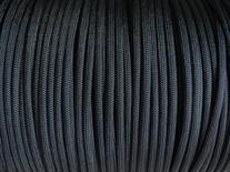 100ft Black Paracord - 550 Type III 7 Strand Parachute Cord