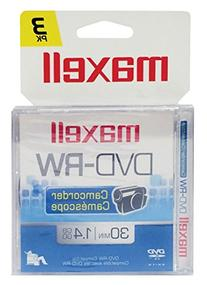 Maxell 567655 DVD-RW Camcorder Rewriteable - 3 Pack Jewel