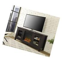 Walker Edison 58 Fireplace TV Stand w/Drs Espresso