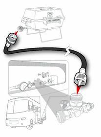 Camco 59043 12' Propane Extension Hose