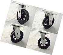 """6"""" X 2"""" Swivel Caster 7/8"""" V-groove Iron Steel Wheel  1000"""