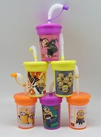 6 Despicable Me Minion Stickers Birthday Sipper Cups with