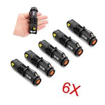 6 Mini CREE Q5 LED Flashlight Torch 7W 300LM Mini CREE LED