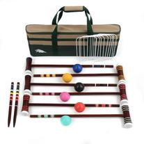 Lion Sports 6 Player Family Croquet Set, 24-Inch