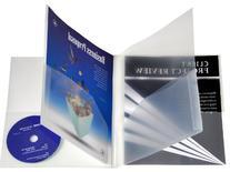 Lion 6-Pocket Plastic Folder, Clear, Pack of 2