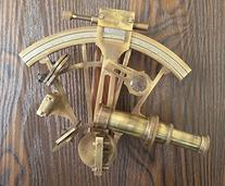 6'' Solid Brass Sextant Marine Gift Astrolabe Antique