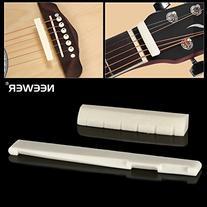 Neewer 6 String Acoustic Guitar Bone Bridge Saddle and Nut