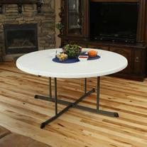Lifetime 60 in. Round Fold in Half Folding Table