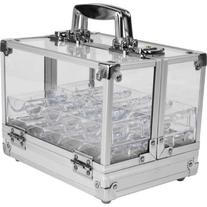 600 Chip Capacity Clear Acrylic Case with 6 Trays -