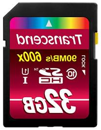 Transcend 600X 32GB High Speed Class 10 UHS UI-10 SDHC Flash Memory Card -Read up to 90MB/S