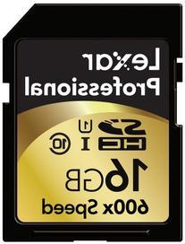 Lexar Professional 600x 16GB SDHC UHS-I Flash Memory Card