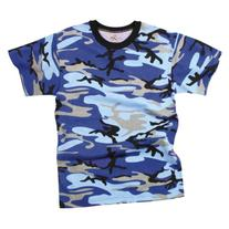 Rothco T-Shirt/Electric Blue Camo, Large