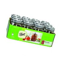 Jarden Home Brands 61000 Regular Mason Canning Jar, Pint -