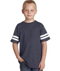 LAT 6137 Youth Fine Jersey Football Tee - Vintage Navy &