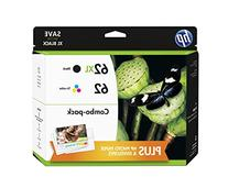 HP 62XL/62 High Yield Black and Standard Tricolor Ink