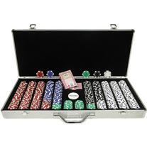 Trademark 650 11.5-Gram Dice-Striped Poker Chips in Aluminum