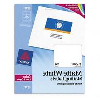 """Avery White Laser Labels for Color Printing, 3"""" x 3-3/4"""