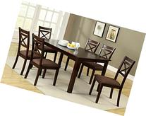 7 Pc. Weston contemporary style espresso finish wood with