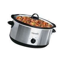Crock-Pot 7-Quart Oval Manual Slow Cooker, Stainless Steel,