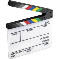 Elvid 7-Section Acrylic Production Slate with Color Clapper