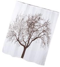 "70"" X 72"" Polyester Fabric Mocha Tree Shower Curtain"