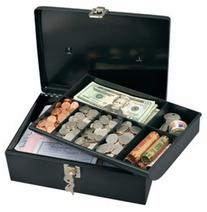 Master Lock 7113D Cash Box with 7-Compartment Tray