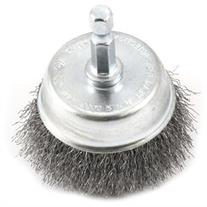 Forney 72730 Wire Cup Brush Fine Crimped with 1/4-Inch Hex