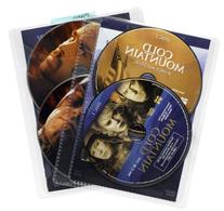 Atlantic 25 Pack Movie Sleeves - Clear Sleeve hold two discs