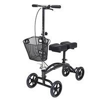 Drive Medical Dual Pad Steerable Knee Walker with Basket,