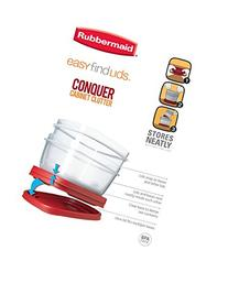 Rubbermaid Easy Find Lids Square 3-Cup Food Storage