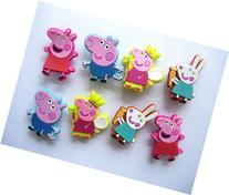 8 New Arrival Rare Peppa Pig Shoe Charms for Croc Shoes &