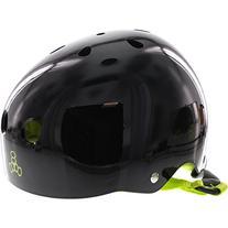 Triple 8 Helmet Black Gloss/Green- MEDIUM