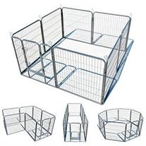Large 8 Panel 32 Heavy Duty Cage Pet Dog Cat Barrier Fence