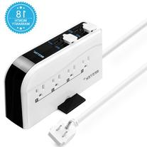 BESTEK 8-Outlet Power Strip 6-Foot Cord with 7.5A 4-Port USB