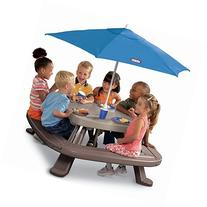 8-seaters Picnic Table with Umbrella