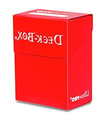 Ultra Pro 80 Card Deck Box - Red