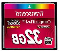 Transcend 32GB CompactFlash Memory Card 800x