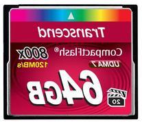 Transcend 64GB CompactFlash Memory Card 800x