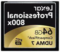 Lexar Professional 800x 64GB CompactFlash Card