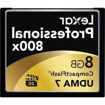 Lexar Professional 800x 8GB VPG-20 CompactFlash Card  w/Free