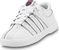 K-Swiss 801 Classic Tennis Shoe ,White,4.5 M US Big Kid