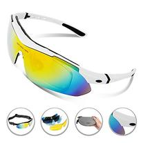 RIVBOS 806 POLARIZED Sports Sunglasses with 5 Set